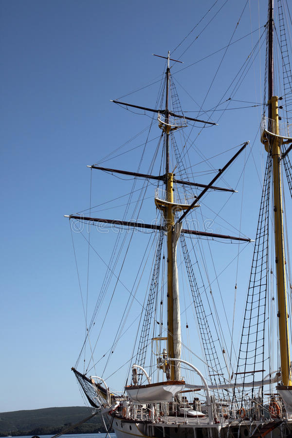 Sailing vessel at the dock royalty free stock image