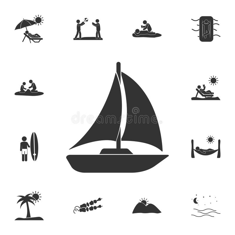sailing yacht icon. Detailed set of Summer illustrations. Premium quality graphic design icon. One of the collection icons for web stock illustration