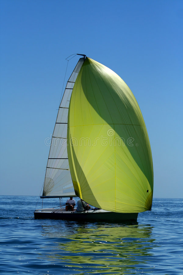 Download Sailing Yacht With Spinnaker In The Wind Stock Photo - Image: 6331318