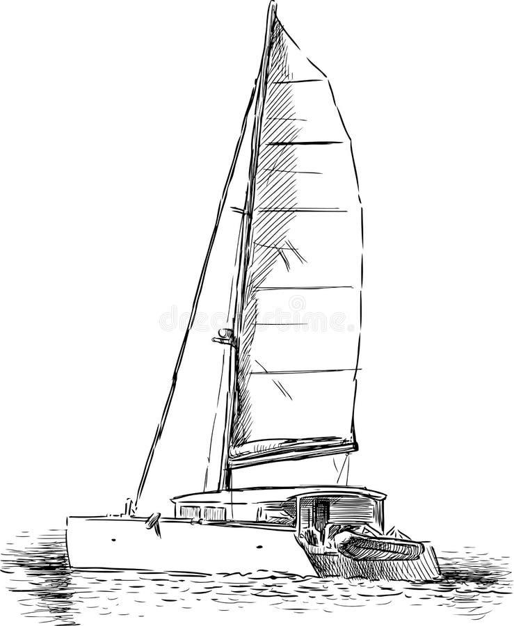 Sailing Yacht Royalty Free Stock Photography