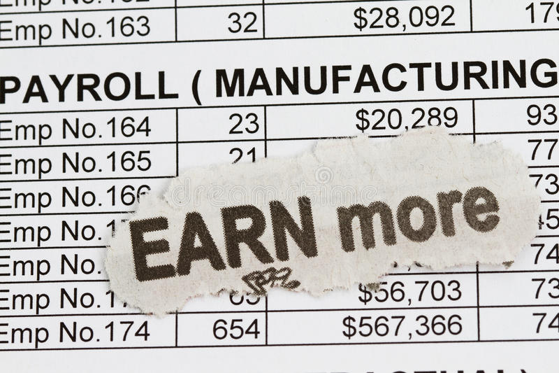 Saillie de masse salariale images stock