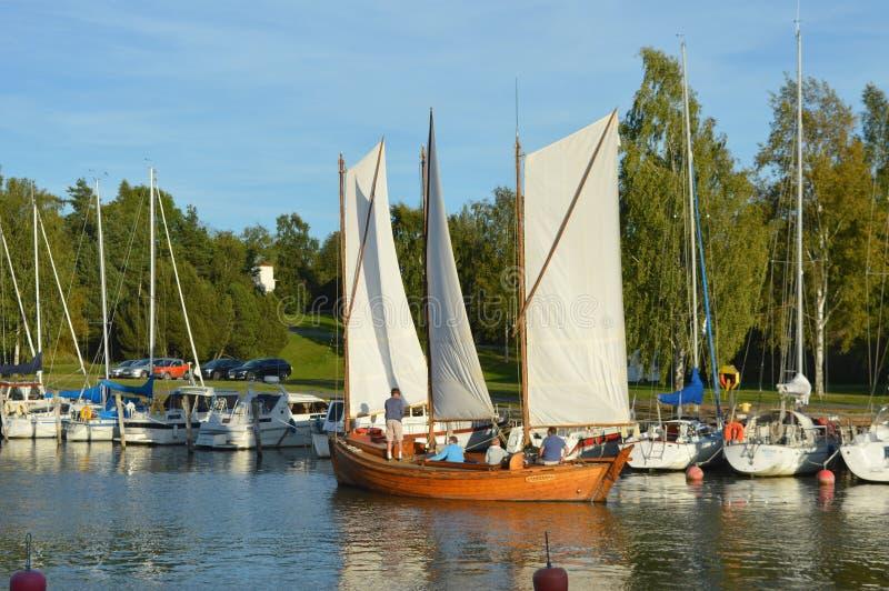 Sailng łódź obrazy stock
