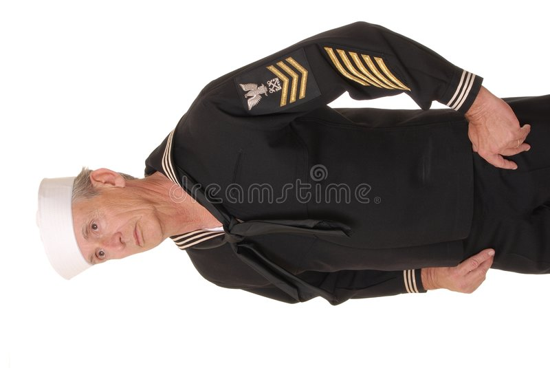 Sailor 16. Old sailor from the United States Navy royalty free stock photos