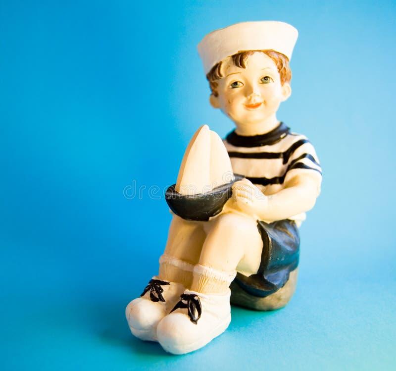SAILOR. LITTLE SAILOR WITH A SHIP stock photos