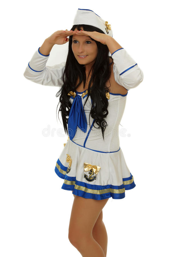 Download Sailor stock image. Image of female, girl, mouth, copy - 28324945