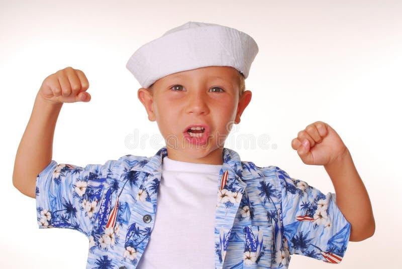 Sailor Boy Five. Young boy in a sailor's cap stock image