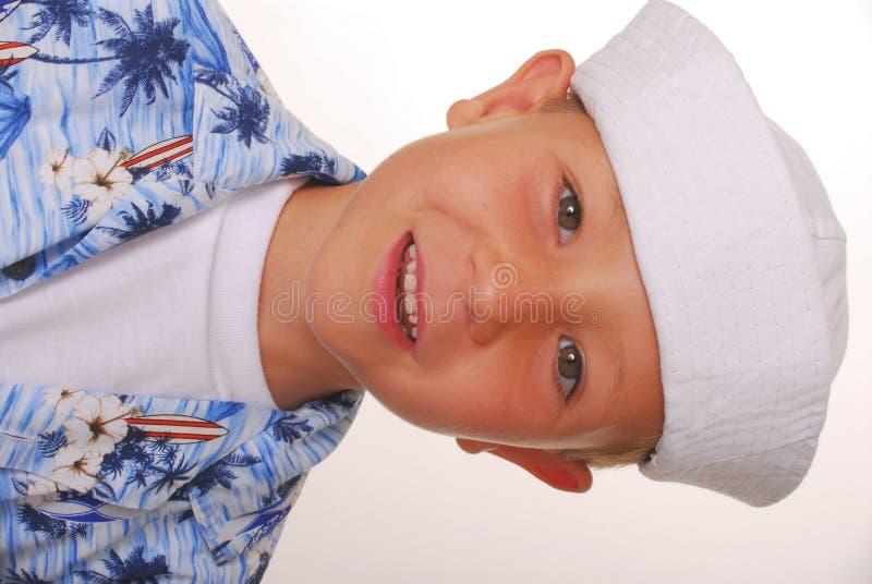 Sailor Boy Seven. Young boy in a sailor's cap royalty free stock photo