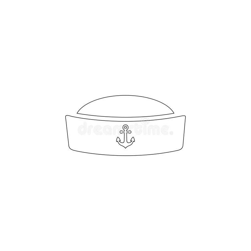 Sailor cap. flat vector icon royalty free illustration