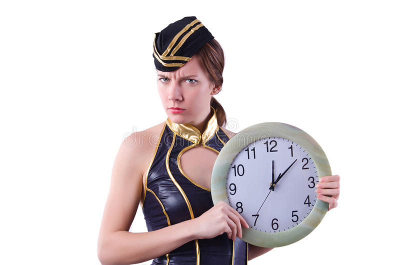 Sailor With Clock Royalty Free Stock Photography