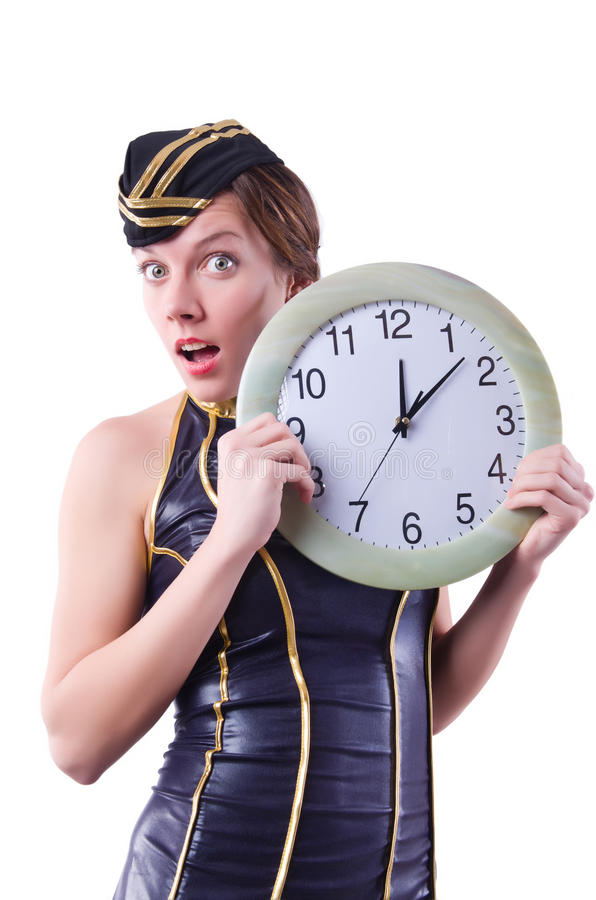 Download Sailor with clock stock photo. Image of hurry, attendant - 36979502