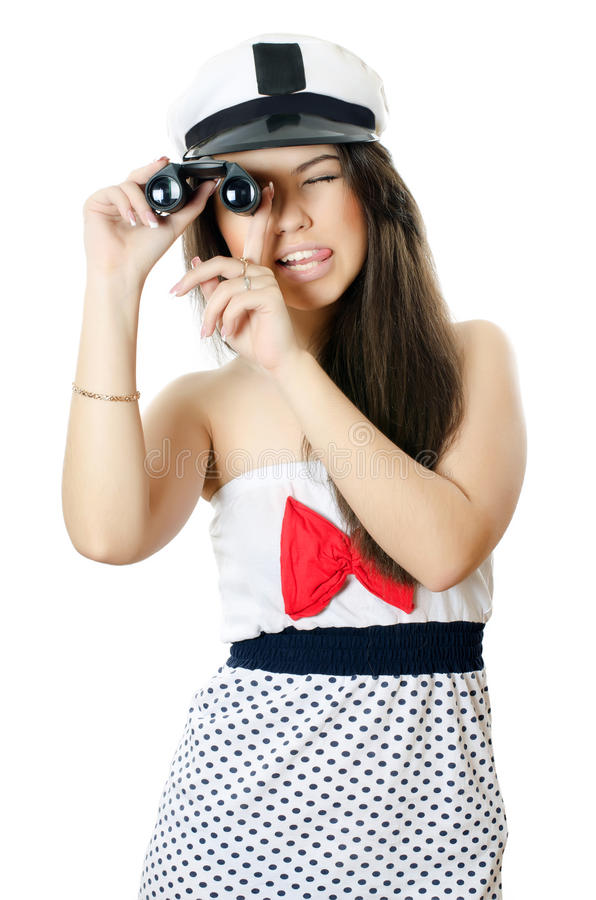 Download Sailor girl stock photo. Image of beautiful, lens, attractive - 23873204