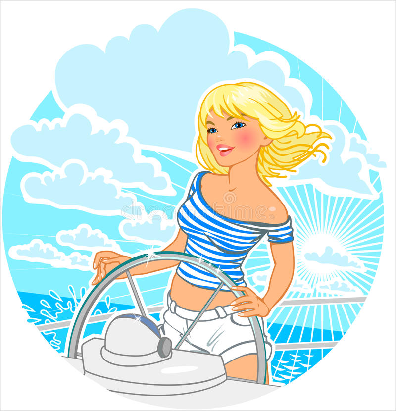 Sailor girl. royalty free illustration