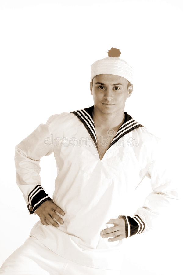 Sailor man dancing stock image
