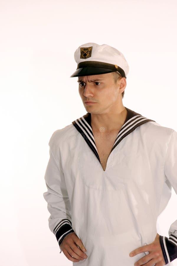 Sailor man frowns royalty free stock photo