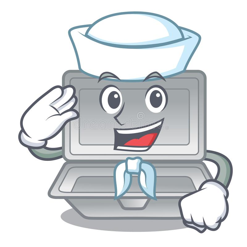 Sailor open styrofoam in the cartoon shape. Vector illustration stock illustration