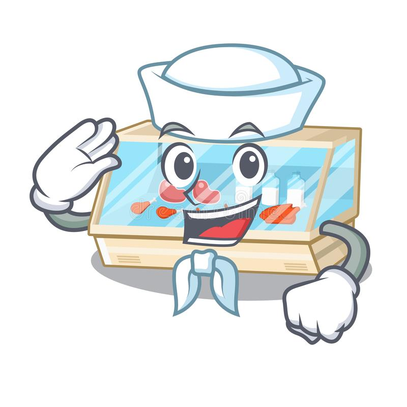 Sailor trade counter in the mascot shape. Vector illustration royalty free illustration