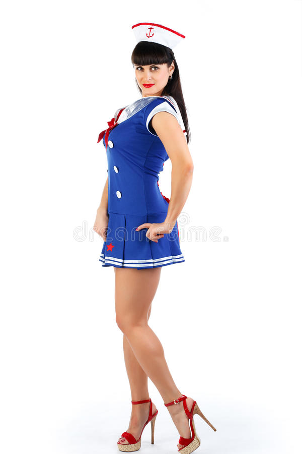 Download Sailor woman stock photo. Image of glamour, sailor, girl - 20198314