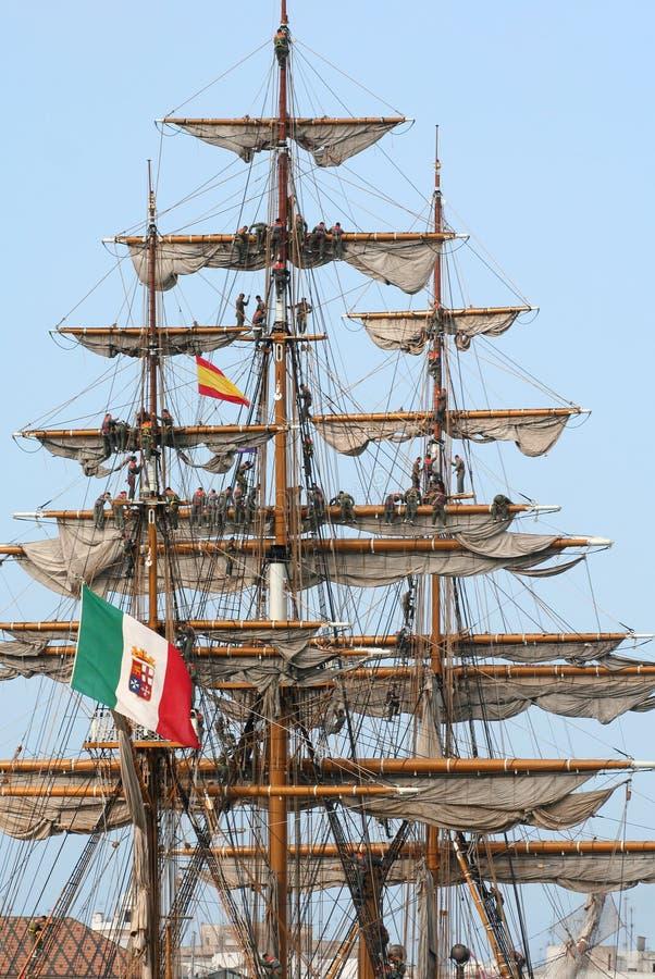 Free Sailors Unfolding The Sails Stock Photos - 1208253