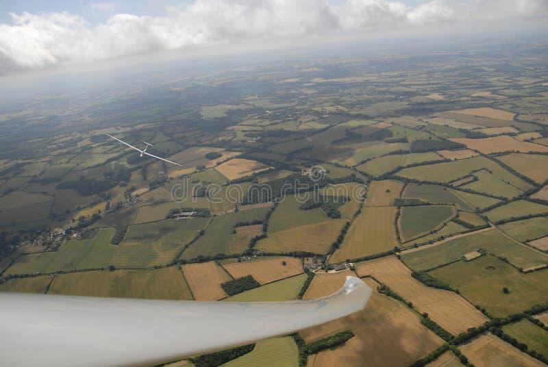 Sailplane, planadores em voo imagens de stock royalty free
