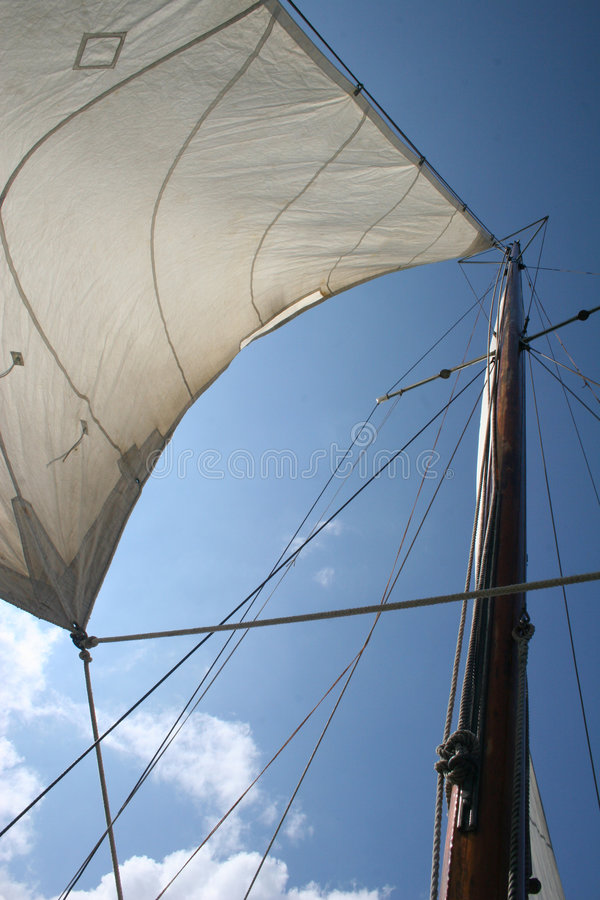 Download Sails stock photo. Image of wood, deck, boat, boom, wind - 1345992