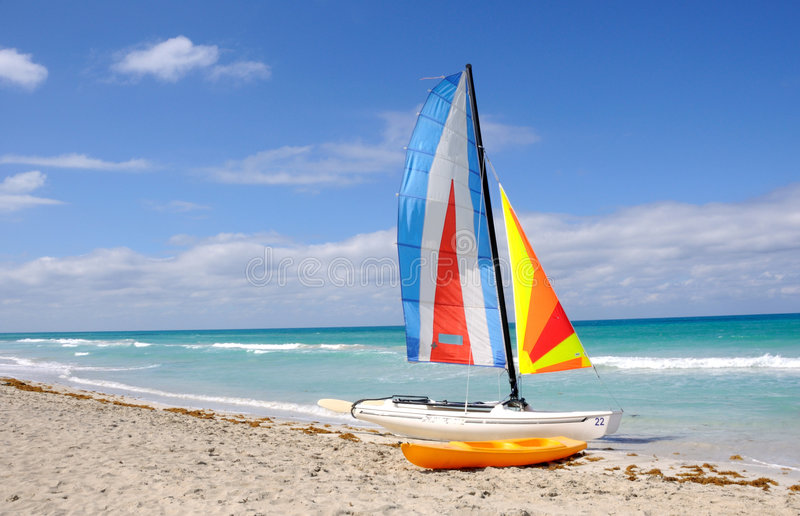 Download Sails and beach stock photo. Image of colourful, yellow - 7520516