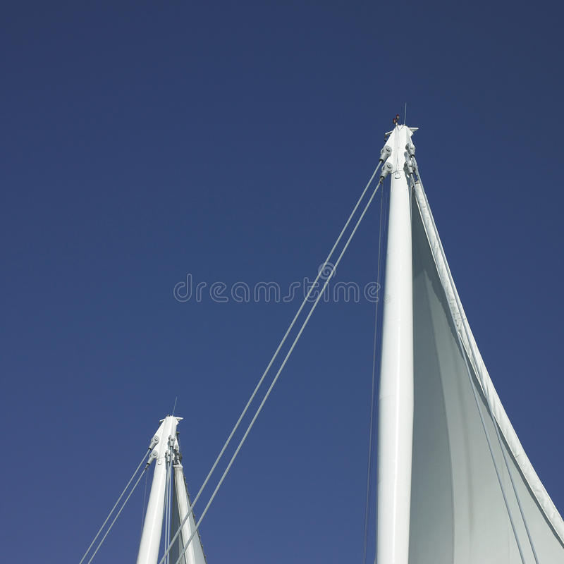 Download Sails and blue sky stock image. Image of blue, monochromatic - 28473747