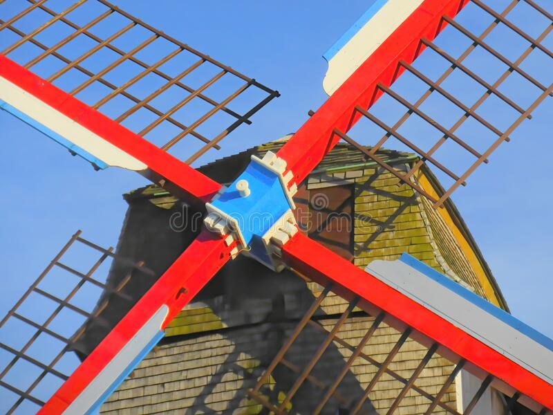 Sails and hub of a historic windmill. The sails and central hub of a traditional Belgian windmill in the city of Bruges in Belgium royalty free stock photography