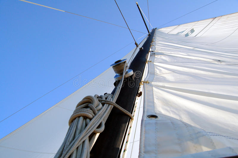 Sails and line royalty free stock image