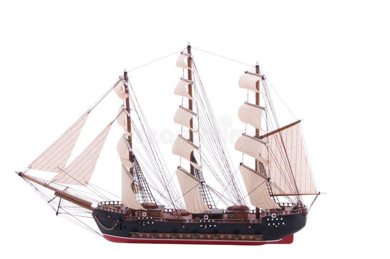 Sailship Baumuster auf Weiß stockbild