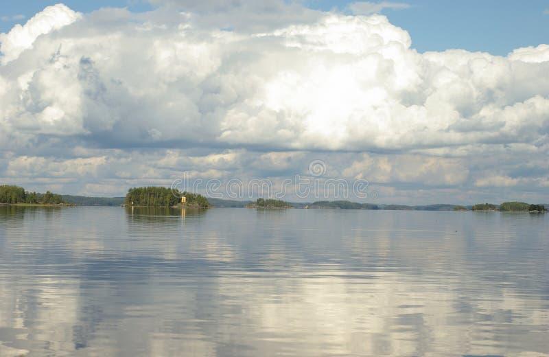 Saimaa sjö Finland royaltyfri bild