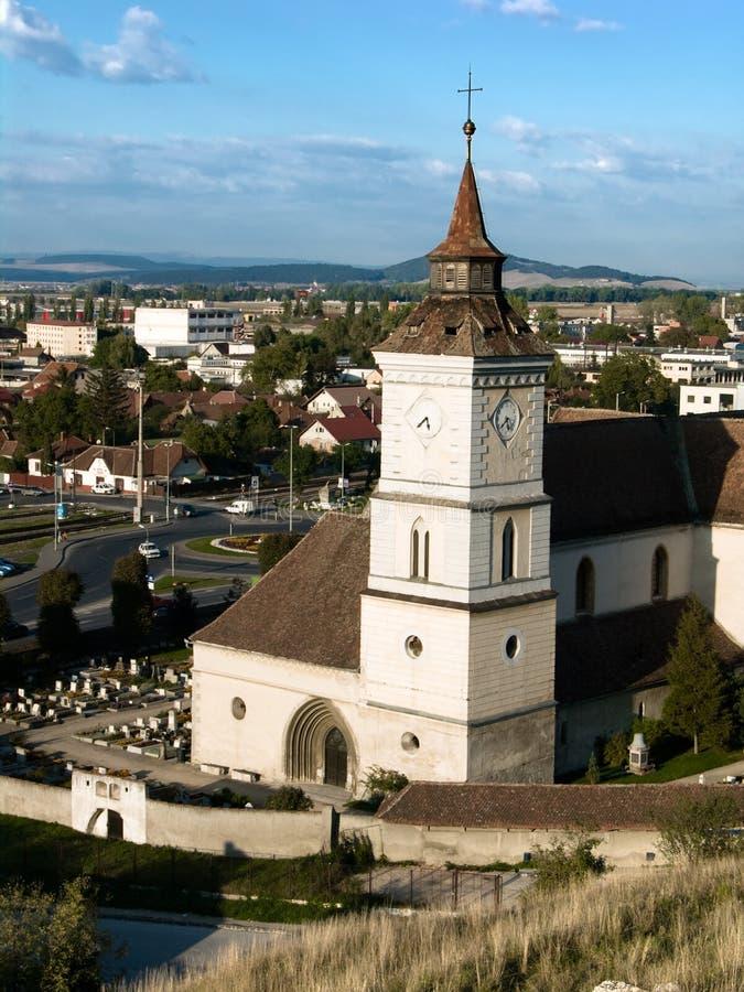 Sain Bartholomew em Brasov (a Transilvânia, Romania) fotografia de stock