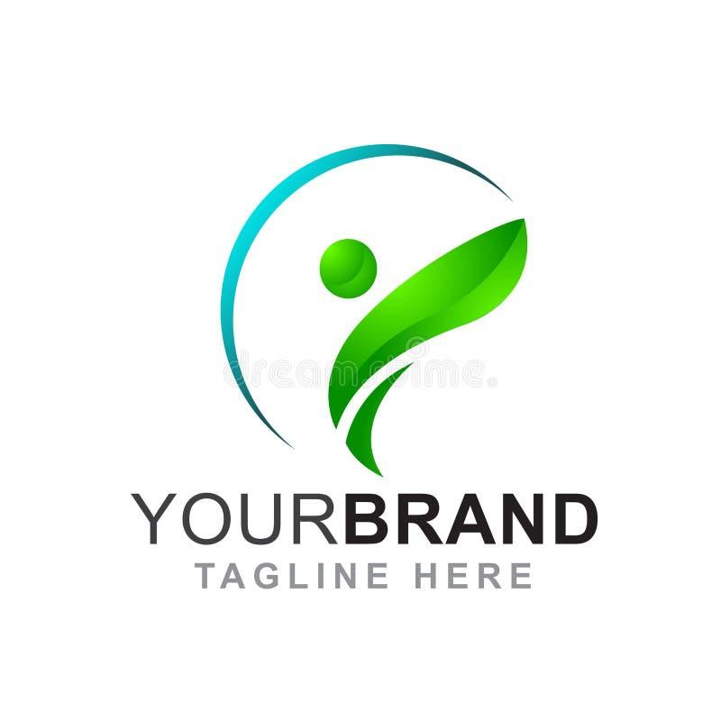 Sain, beauté, saut et logo de femmes - vecteur photographie stock