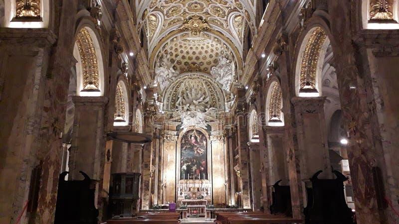 Sain Luigi dei Francesi, the central nave royalty free stock photo