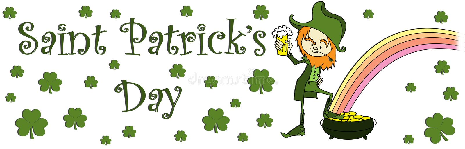 Download Sain patrick's day banner stock illustration. Image of happiness - 13356380