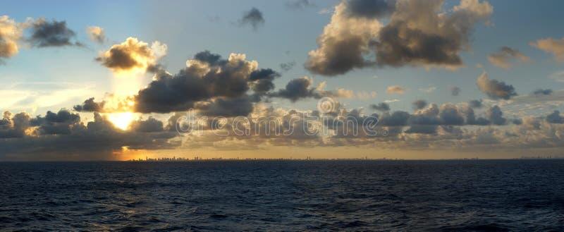 Saindo de Miami fotografia de stock