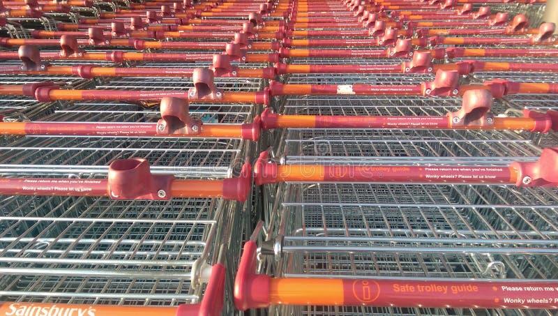 Sainsbury spårvagn royaltyfri bild
