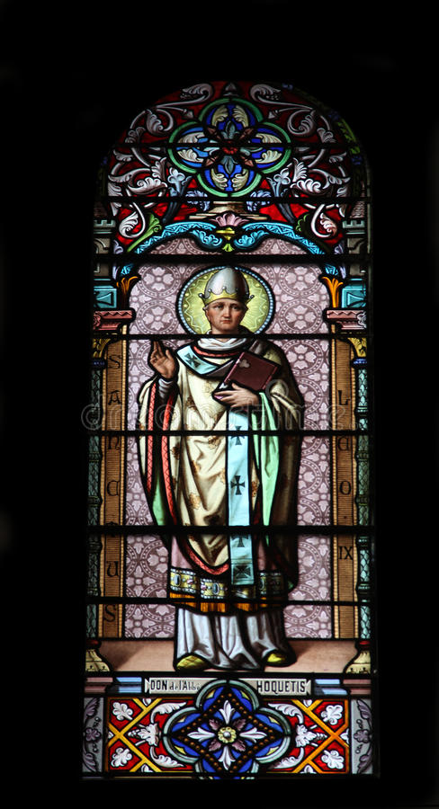 Saint利奥IX教皇 免版税库存图片