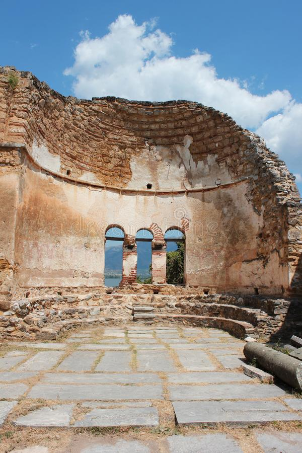 Saint Achilleios church at Prespes Lake Florina northern Greece. Europe stock photography