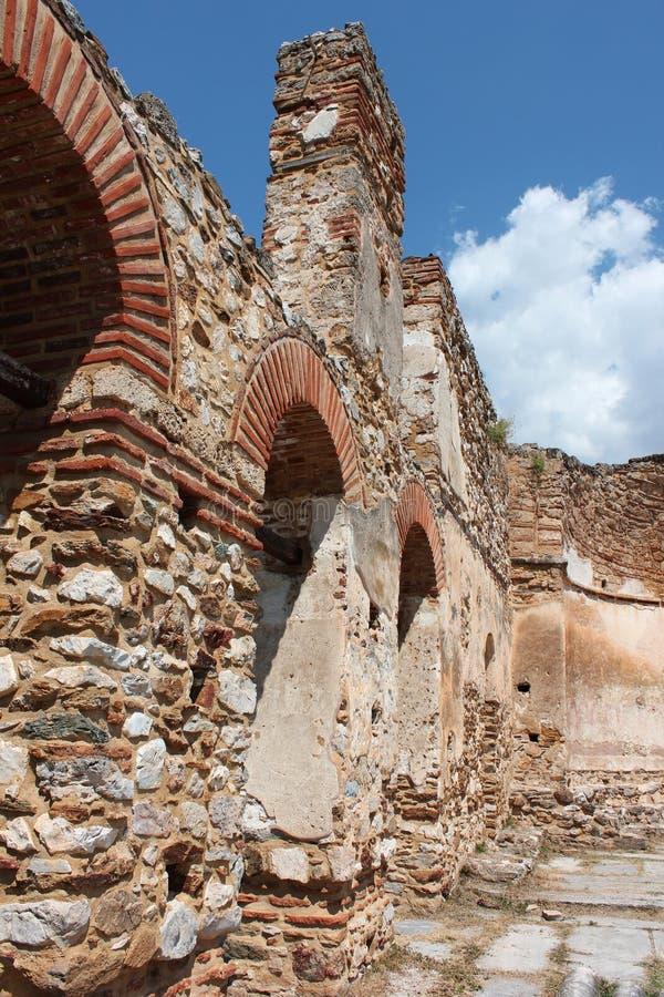 Saint Achilleios church at Prespes Lake Florina northern Greece. Europe royalty free stock photo