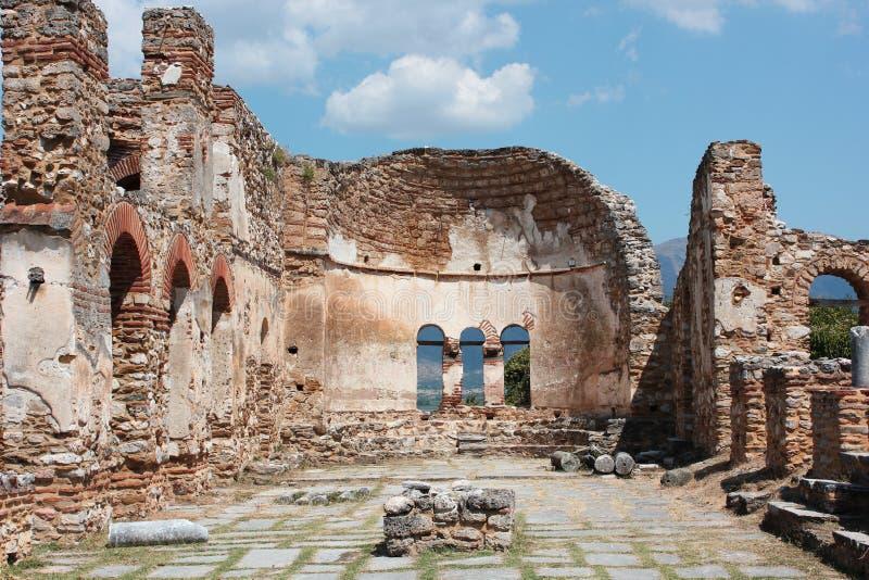 Saint Achilleios church at Prespes Lake Florina northern Greece. Europe stock photos