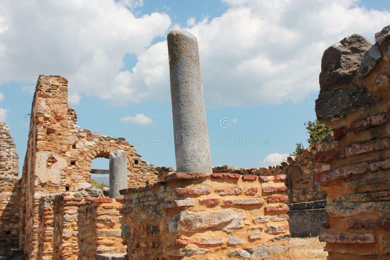 Saint Achilleios church at Prespes Lake Florina northern Greece. Europe stock images