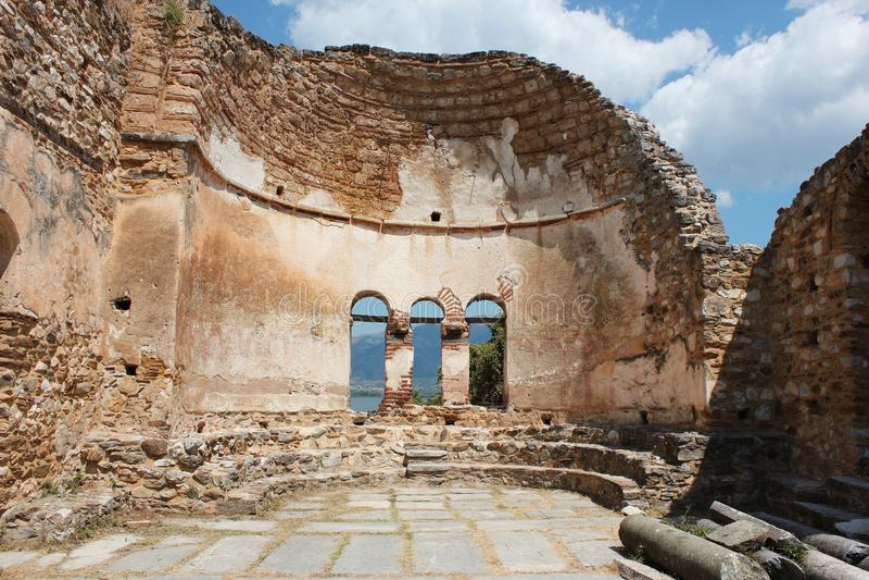 Saint Achilleios church at Prespes Lake Florina northern Greece. Europe royalty free stock photography