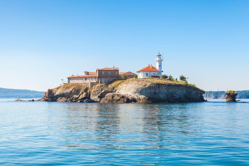 Saint Anastasia Island na baía de Burgas fotos de stock