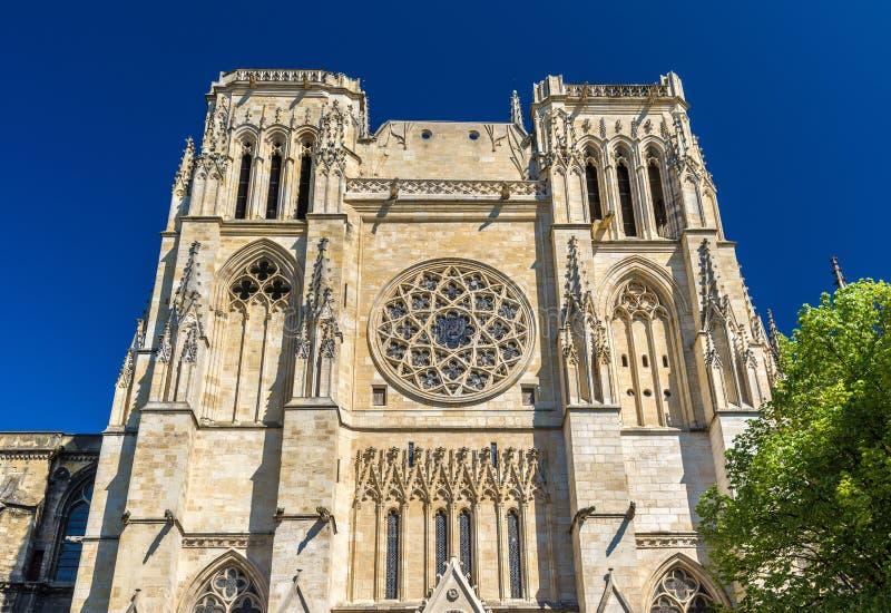 Saint Andre Cathedral do Bordéus, França imagens de stock