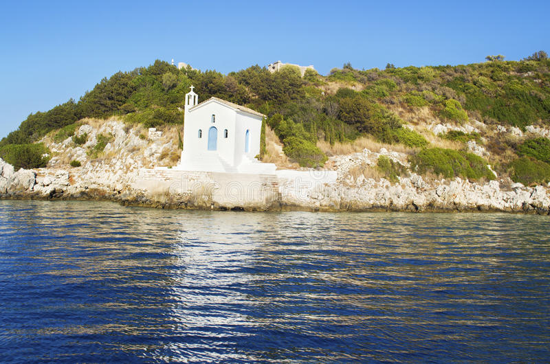 Saint Andrew chapel at Ithaca Greece royalty free stock image
