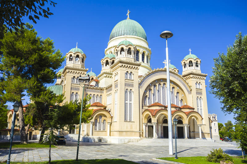 Saint Andrew Church Patras, Peloponnese, Grécia imagem de stock royalty free