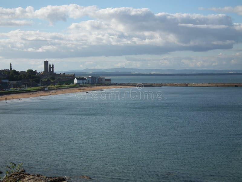 Saint Andrews Wyrzucać na brzeg Wschodnich piaski zdjęcia royalty free