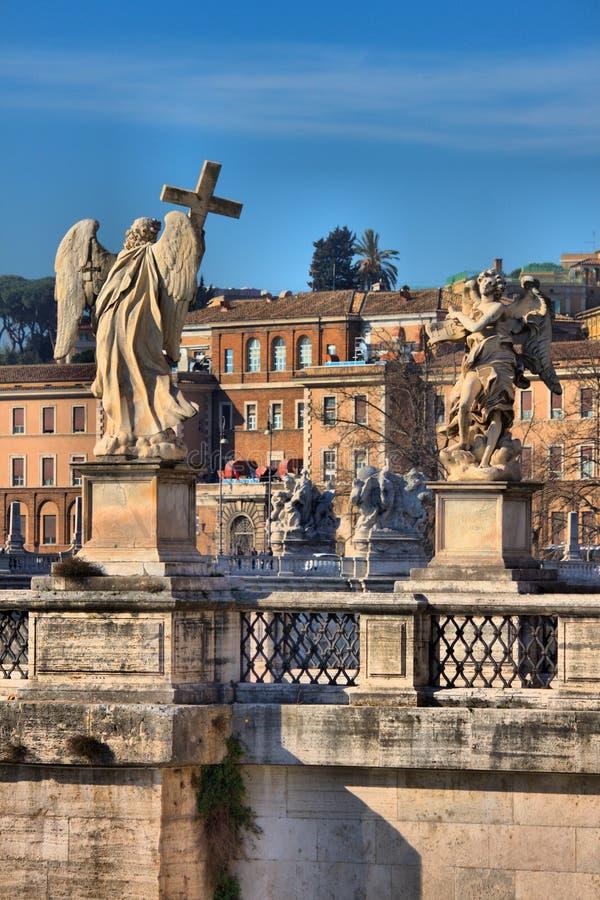 Saint Angel bridge in Rome royalty free stock photography