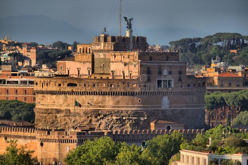 Saint Angel castle Rome stock image