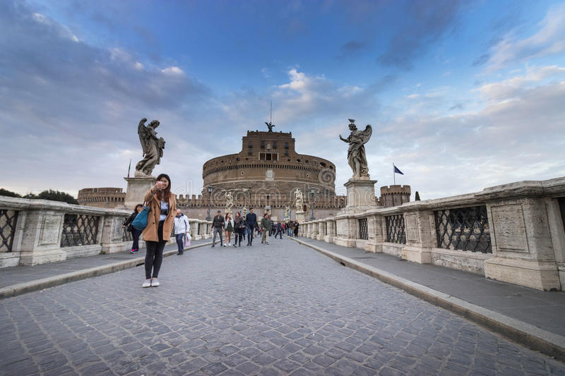 Saint Angel Castle in Rome, Italy royalty free stock images
